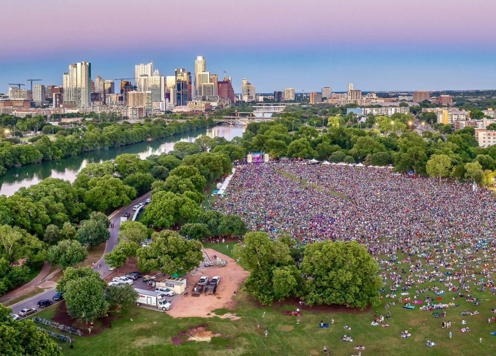 austin music festival crowd visitors short term vacation rental property